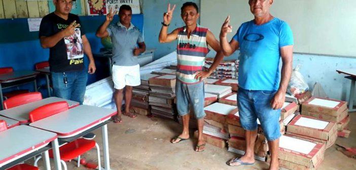 Entrega de Materiais de Construção para Reforma da Escola M. São João Batista II, na Comunidade de Távio