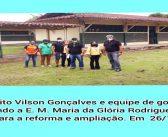 Prefeito Vilson Gonçalves e Equipe de Governo Avaliando a E. M. Maria da Glória Rodrigues Paixão para a Reforma e Ampliação